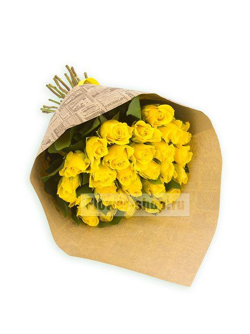 Букет из 27 желтых роз Акуна Матата