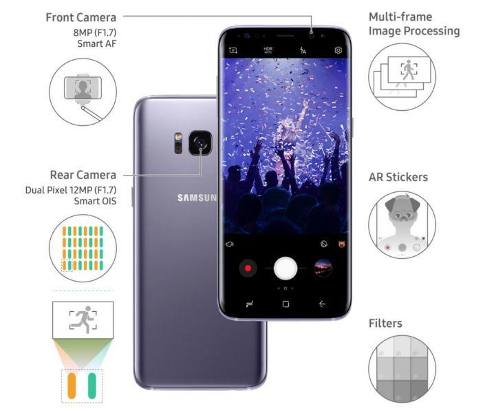 Samsung Galaxy S8 camera tip en truc 4: download verschillende opties voor camera modus