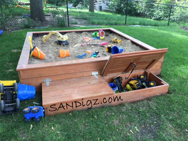 laffitte built this sandbox using sandigz sandbox plans - Sandbox Design Ideas