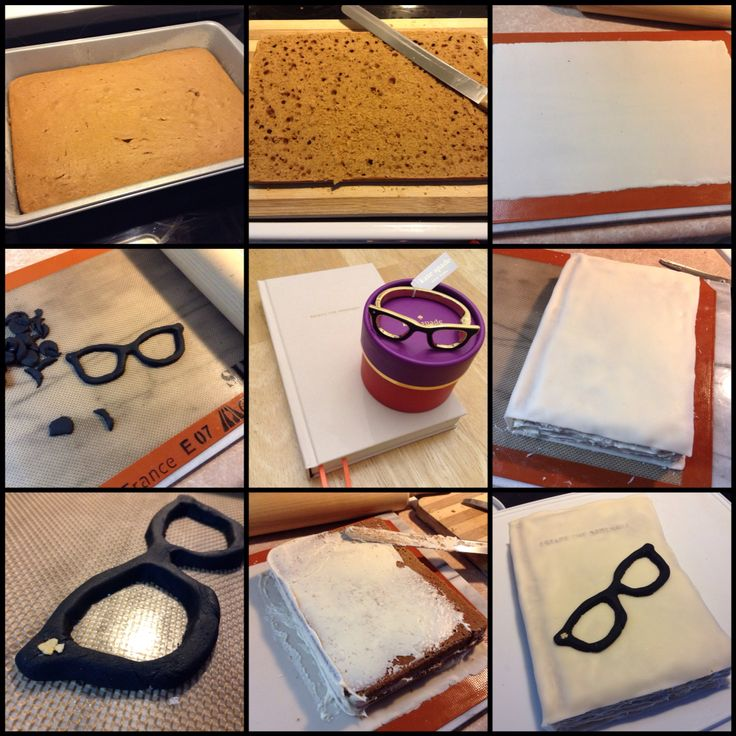 Kate Spade Journal Cake & Goreski Glasses Bangle: Vanilla Coffee Cake, French Vanilla Frosting & Ivory Vanilla Fondant