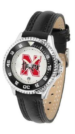 Nebraska Cornhuskers NCAA Womens Leather Wrist Watch by SunTime. $72.95. Showcase the hottest design in watches today! A functional rotating bezel is color-coordinated to compliment your favorite team logo. A durable long-lasting combination nylon/leather strap together with a date calendar round out this best-selling timepiece.. Save 21% Off!