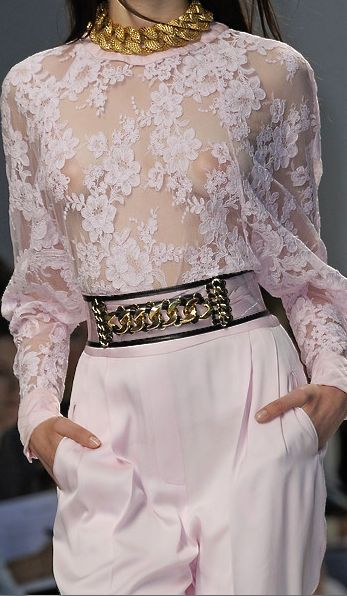 Balmain, 2014. Gorgeous..but most of us would opt for another layer under this one, at least to leave the house!