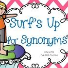 Surf's Up for Synonyms Freebie Task Cards