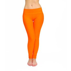 Orange Leggings Belly Bottom Orange Yoga Pants Yoga Tight