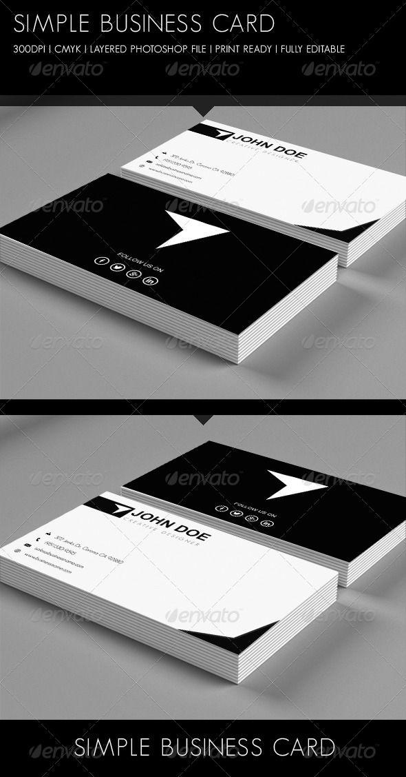 93 best print templates images on pinterest print templates simple business card graphicriver reheart Images