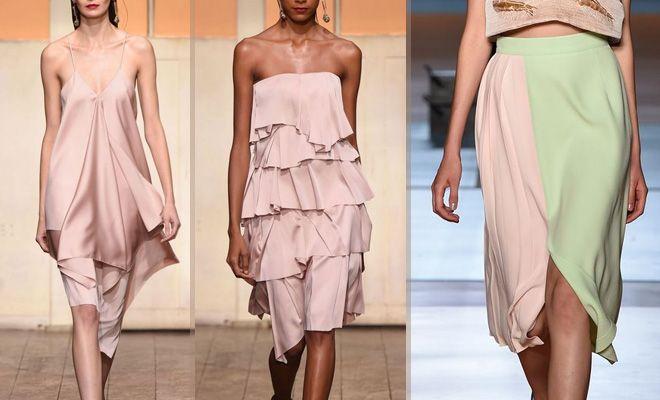 Розовое платье Cédric Charlier, розовая юбка Au Jour Le Jour