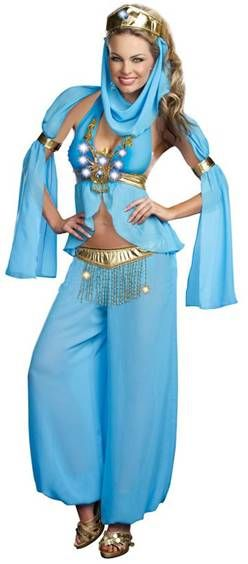 Harem girl costume with veil detail.