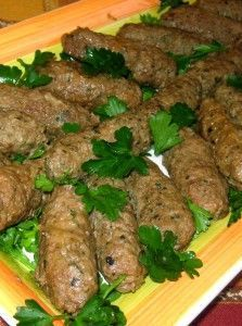 Egyptian recipe: kofta. I normally brown the kofta on top of stove then I add half a cup of water and when it starts to boil I cover the pan and continue cooking in a 370 F preheated oven for 20m then uncover for 15m or until completely dry - I also prefer to add 1tsp or more of allspice  to every lb of ground meat