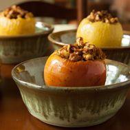 Cinnamon Baked Walnut Apples