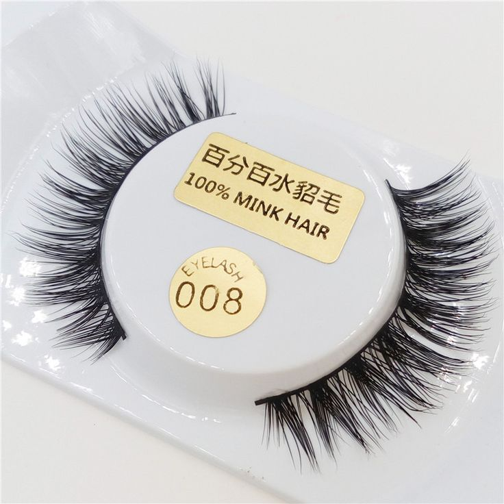 1 pair Luxurious Mink Hair Eye Lashes Crisscross Handmade Eye Lashes Beauty Cosmetic