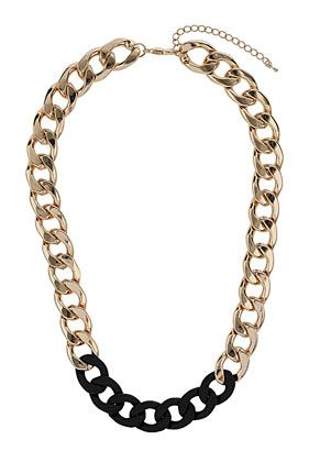 Gold And Black Chunky Chain