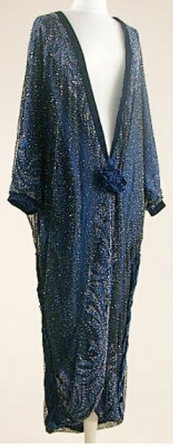 Midnight Blue Opera Coat  1920s