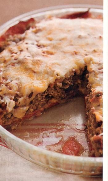 """Meatloaf """"Pie"""" (thm use oats instead of bread crumbs)"""