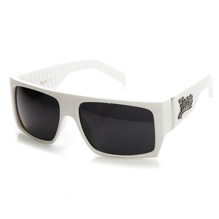 Official Locs Brand White Square Shades LOCS Sunglasses