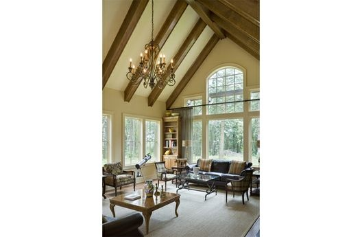 Love he high ceiling and open beams dream home pinterest house plans high ceilings and - House plans high ceilings ...