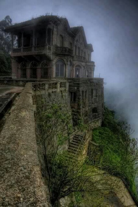 Tequendama falls-Colombia, eerily beautiful.