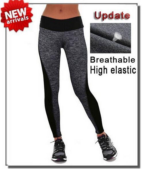 253151b078aea New Women Sport Leggings Pants Patchwork Lady High Waist Stretched Leggings  Gym Fitness Pants Running Leggings