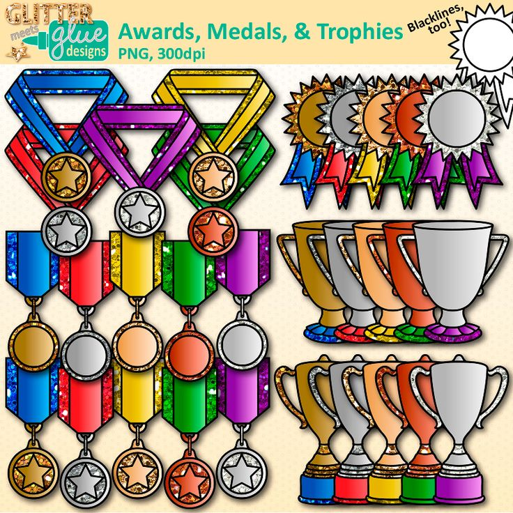 Download trophies clipart for Field Day, end of year, graduation, honor roll certificates. Create awards for International Games & student of the month.