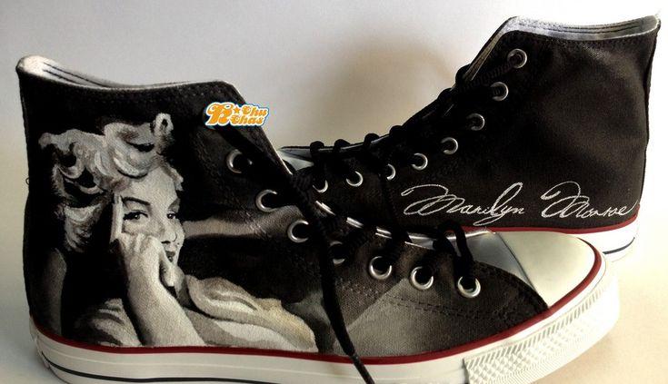 #Marilyn Monroe Shoes Marilyn Monroe High-top Painted Canvas Shoe,High-top Painted Canvas Shoes