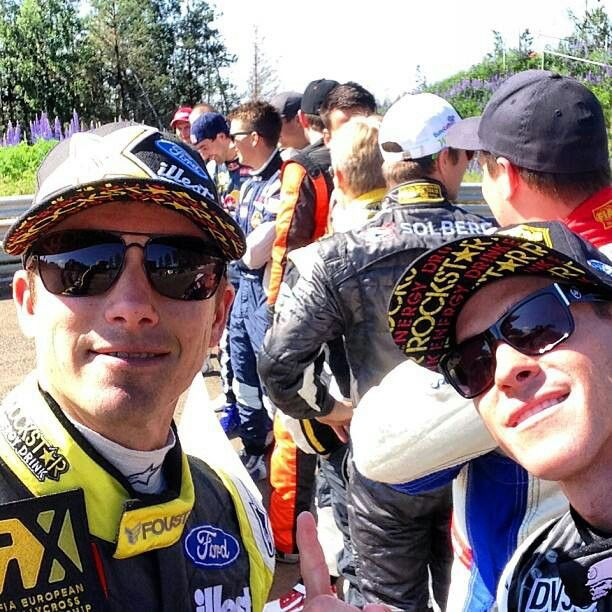 Tanner and Brian Deegan at the autograph session at Rallycross RX Finland