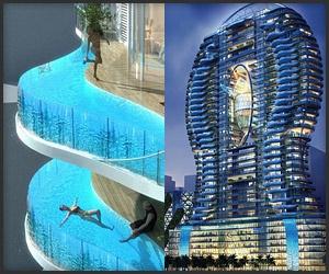 Pool Balconies - Bandra Ohm Tower, Mumbai, India