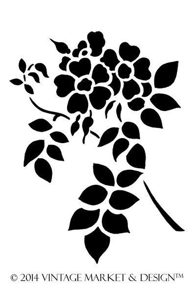 Wild Rose Stencil #5549
