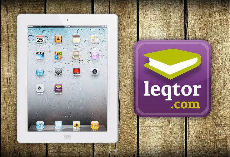 Diseño de icono app iPad leqtor.com | Dolphin Tecnologías