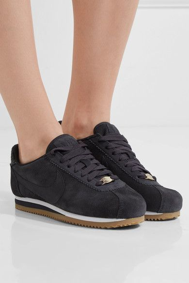 Nike - A.l.c. Classic Cortez Suede Sneakers - Charcoal