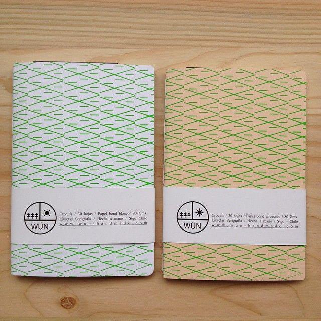 Instagram media wunhandmade - Libretas croquis 30 hojas 80 gms. Tapa serigrafia / encuadernación artesanal