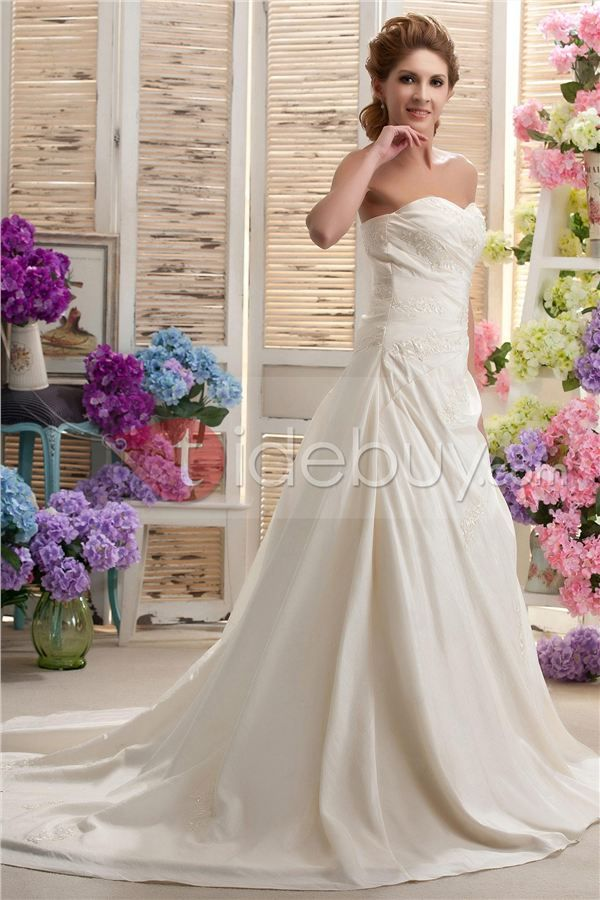 Pretty A-Line/Princess Sweetheart Chapel Nastya's Wedding Dress