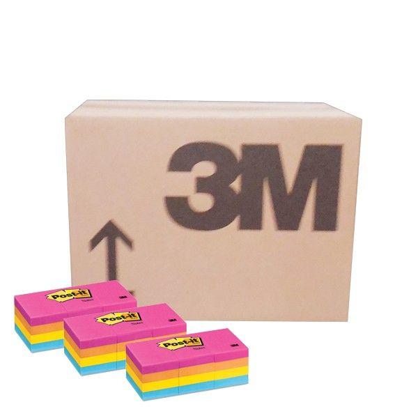 """Color Notes - Neon Colours 653-AN (grosir) - Harga Murah Post-it Merk 3M di Jual Online  1.5"""" X 2"""" Neon 100 sheets/pad, 12pads/pack     (36 Each/Ctn) - Harga per Ctn  http://tigaem.com/post-it-grosir/950-color-notes-neon-colours-653-an-grosir-harga-murah-post-it-merk-3m-di-jual-online.html  #postit #notes #memo #3M"""