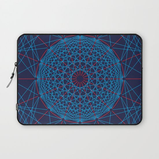 Geometric Circle Blue/Red Laptop Sleeve by Fimbis   ________________________ Protect your laptop with a unique Society6 Laptop Sleeve. Our form fitting, lightweight sleeves are created with high quality polyester - optimal for vibrant color absorption. The design is printed on both sides to fully showcase the artwork while keeping your gear protected. Pulling back the YKK zipper, you'll find the interior is fully lined with super soft, scratch resistant micro-fiber.