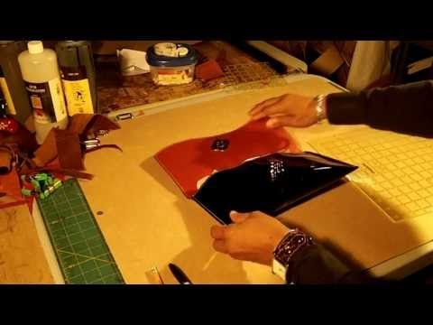 How to Make a Leather Clutch Bag Video Part 1 of 5 - YouTube