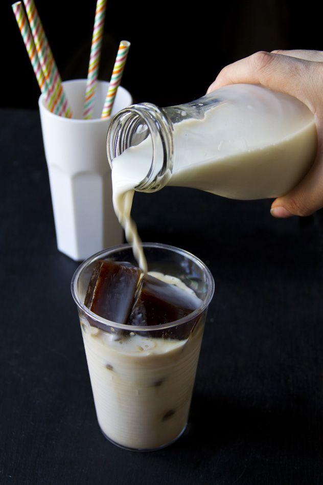Latte e caffè ghiacciato