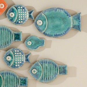Blue Fish Plate #interiorhomescapes #globalviews #walldecor #blue #fish #fun #unique #interiors #decor #design