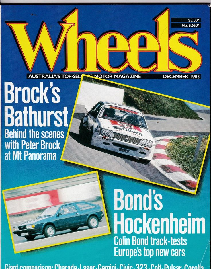 Husband Gift December 1983 Vintage Wheels Magazine featuring Peter Brock and Colin Bond by SuesUpcyclednVintage on Etsy