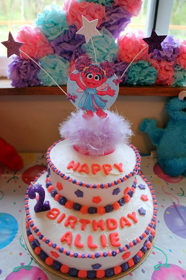 Abby Cadabby Birthday Cake Homemade Cake Topper Using