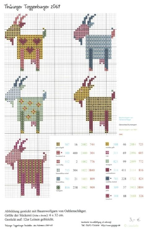 goats x-stitch pattern - could create a simple bead graph for SPCA - sheep too -Gallery.ru / Фото #10 - 6 - Viki-Kitti