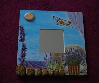 Imagine! I magic! :    Oglinzi cu rama de lemn, decorata manual, 25,5 ...