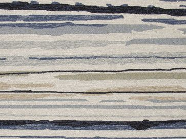 Abstract Pattern Gray /Black Indoor/ Outdoor Rug - CO08, 7.6x9.6 - beach-style - Outdoor Rugs - Indeed Decor $656