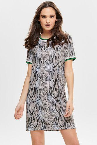 0a40d4685d6d0a jurk met dierenprint - ONLY - Zwart - 15183054