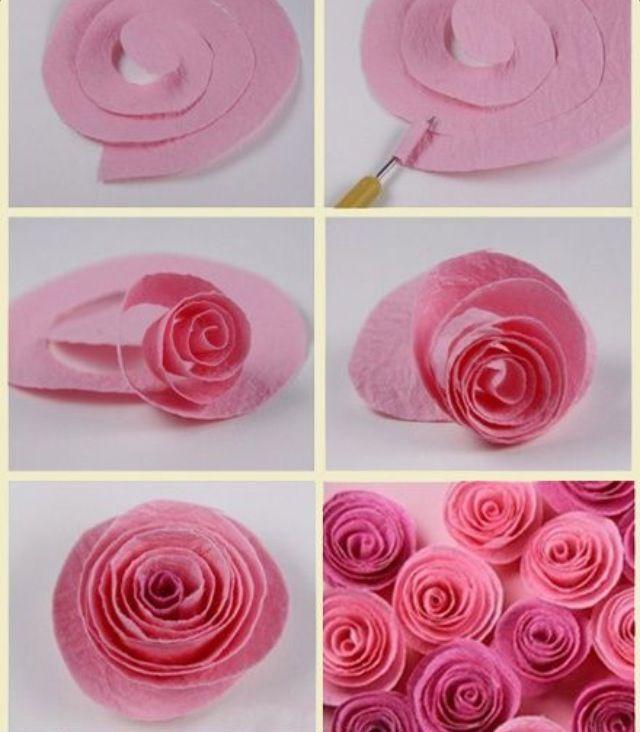 64 best flowers felt images on pinterest paper flowers fabric easy paper flowers rose flowers paper spring decor mightylinksfo