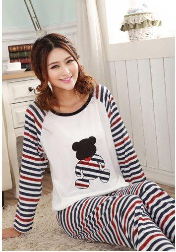 Kadınlar için en iyi satış konfor basit pamuk pijama bahar rahat düz renk pijama kadın Pijama Setleri ev tekstili