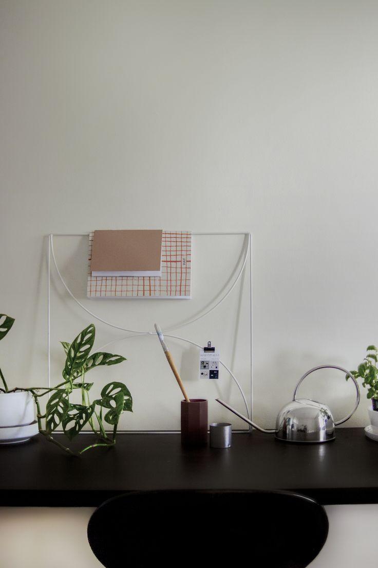 My Scandinavian Apartment | Stockholm, Sweden | Nordic Design: Wallment Arrow Grid, Black Vintage Myran Chair, Richard Lindh for Arabia Flower Pot, Swiss Cheese Vine Monstera Obliqua