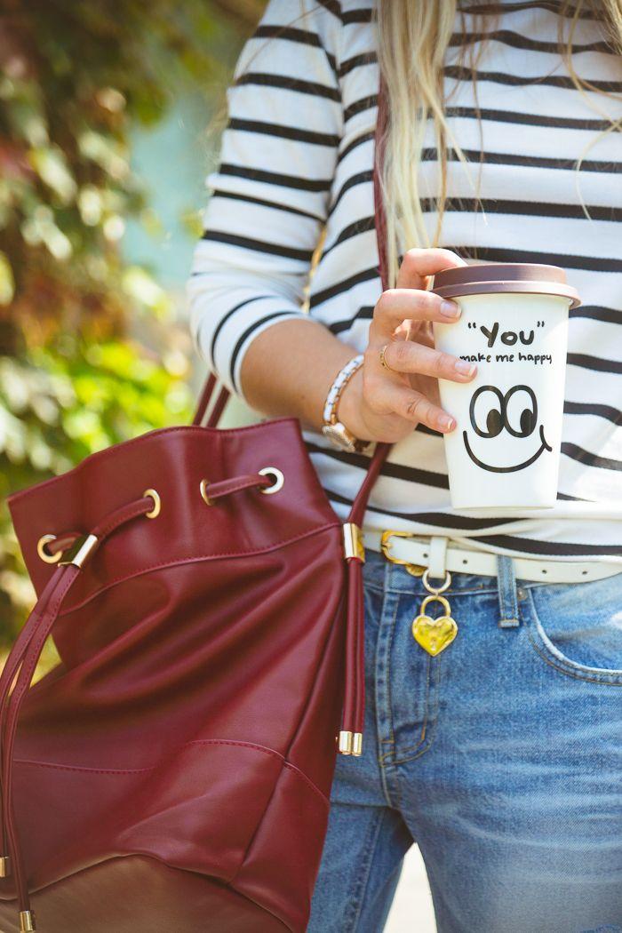 Olga choi fashion blogger myblondegal South Korea boyfriend jeans stripe sweater Blackfive bucket bag Oasap slip-on-01946