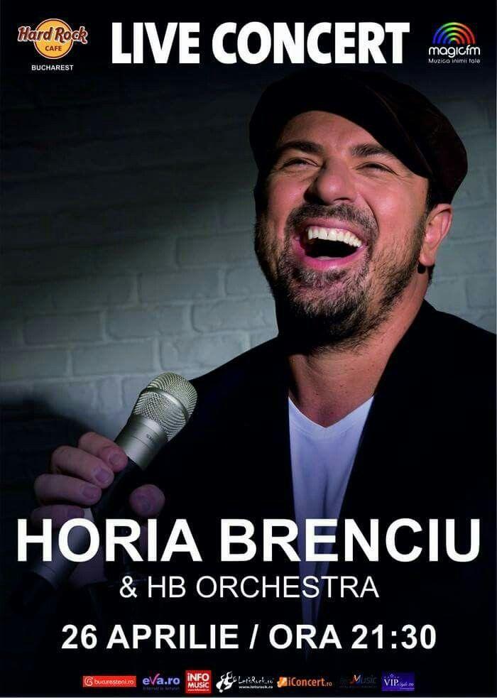 Miercuri, 26 aprilie, ora 21.30 – Concert Horia Brenciu & HB Orchestra la Hard Rock Cafe Bucharest.