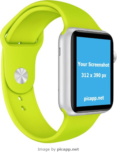 This impressive green Apple Watch photo template from Picapp.net is the perfect frame for your new iOS app. It's amazing, attractive and persuasive. Put your new iOS app screenshot in this Apple Watch and see how it looks. You can do this in few minutes with Picapp.net. Try now, it's free!  #apple #nobackground #mockup #AppleWatch #smartwatch #picapp