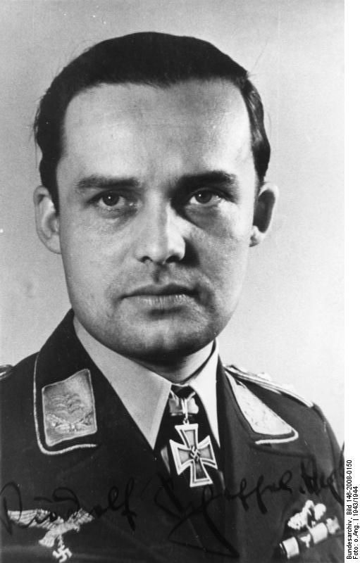 World War IIRudolf Scheffel (9 July 1915 – 18 December 1983) was a German Luftwaffe ace and recipient of the Knight's Cross of the Iron Cross during World War II. The Knight's Cross of the Iron Cross was awarded to recognise extreme battlefield bravery or successful military leadership. During Wo...