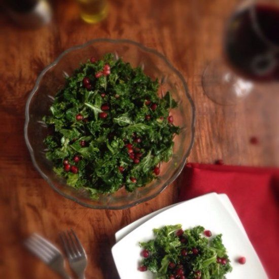 Kale Pomegranate Salad - healthy, easy salad to get your New Year started right