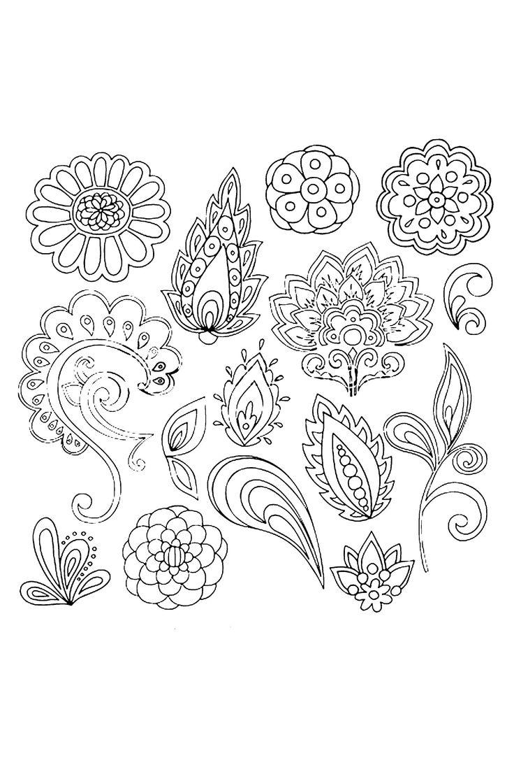 Mehndi vine & flower elements #doodle